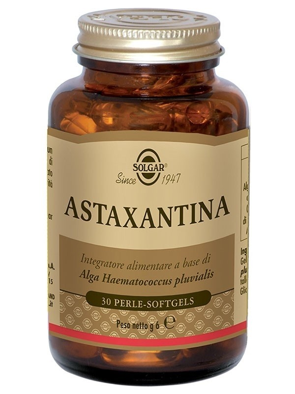 Solgar Astaxantina Sostegno Antiossidante 30 Perle Softgels