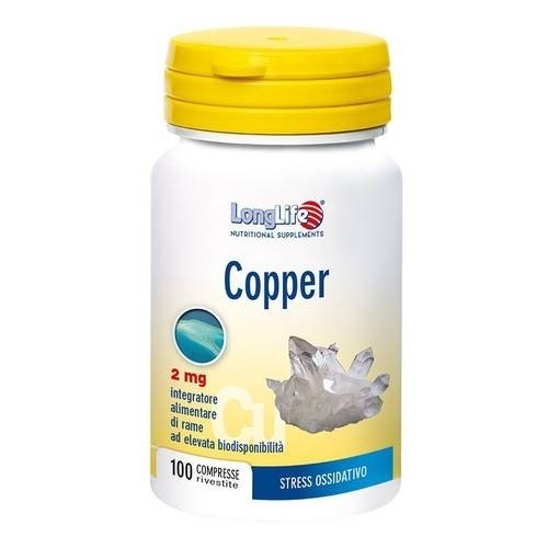 Longlife Copper 2mg 100 compresse