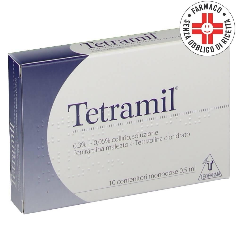 Tetramil* collirio 10 flaconcini monodose 0,5ml 0,3% + 0,05%