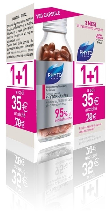 Phyto Phytophanere Duo 1+1 Capelli & Unghie 180 Capsule (90 + 90)