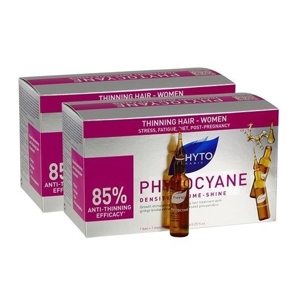 Phyto Phytocyane Fiale Trattamento Anti-Caduta Donna Bipack 12 + 12 Fiale