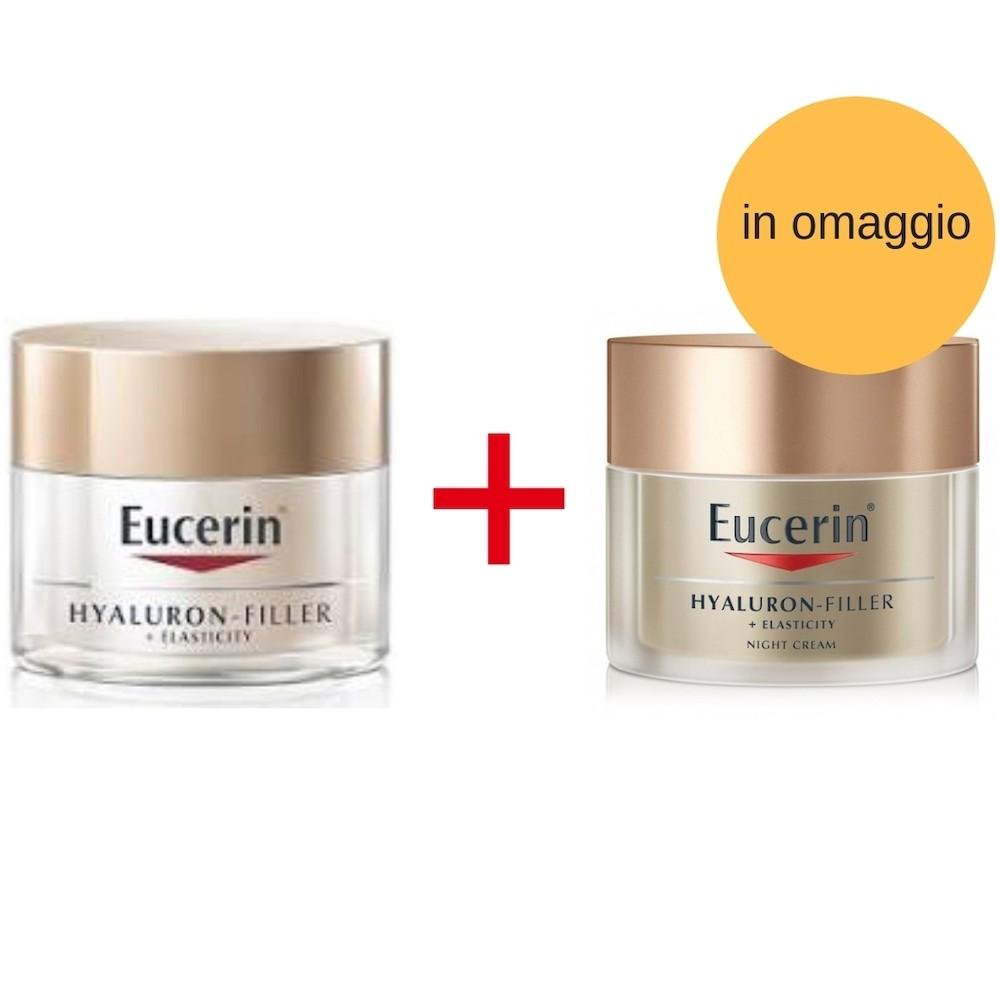 Eucerin Promo Pack Hyaluron Filler +Elasticity Crema Giorno 50 ml + Crema Notte 50 ml in omaggio