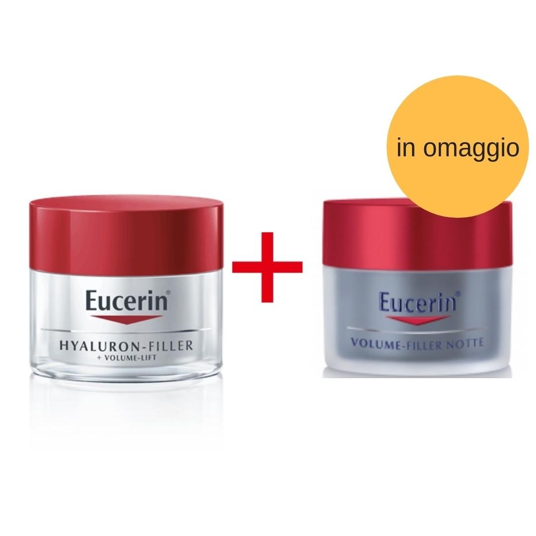 Eucerin Promo Pack Hyaluron Filler + Volume-lift Crema Giorno 50 ml + Crema Notte 50 ml in omaggio