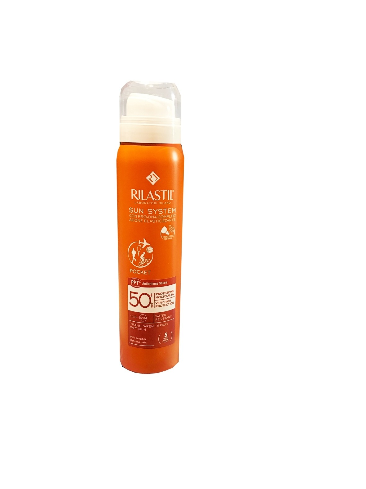 Rilastil Sun System Spray Trasparente Pocket Spf 50+ 75ml