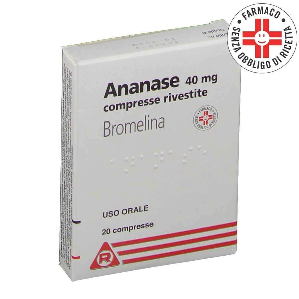 Ananase* 20 compresse rivestite 40mg