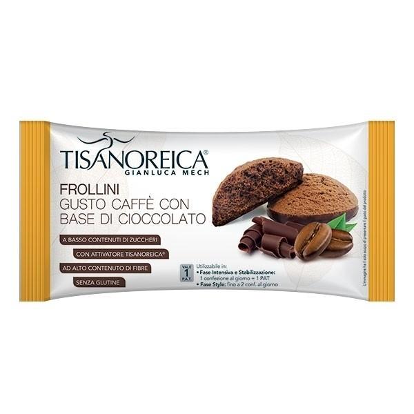 Tisanoreica Frollini Caffe' con Base di Cioccolato 50 g
