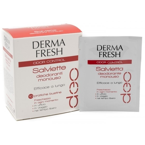 Dermafresh odor control 10 salviettine