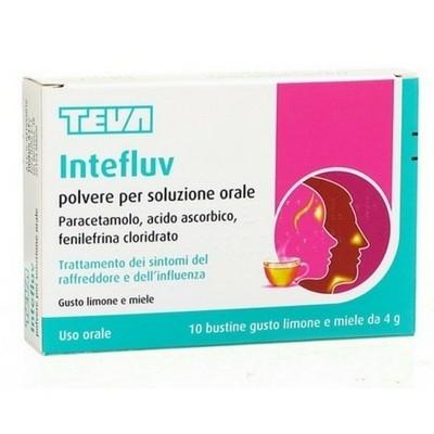 Intefluv polvere raffreddore influenza 10 bustine x 4 g limone e miele