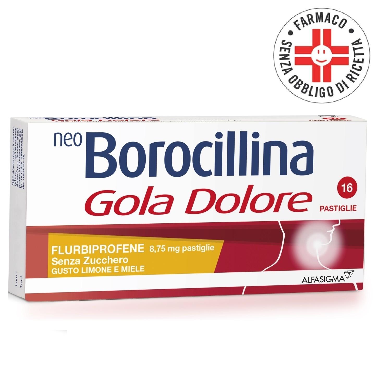 Neoborocillina Gola Dolore *16 Pastiglie Limone&Miele Senza/Zucchero
