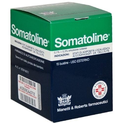 Somatoline 0,1% + 0,3% Emulsione Cutanea Anticellulite 15 Buste