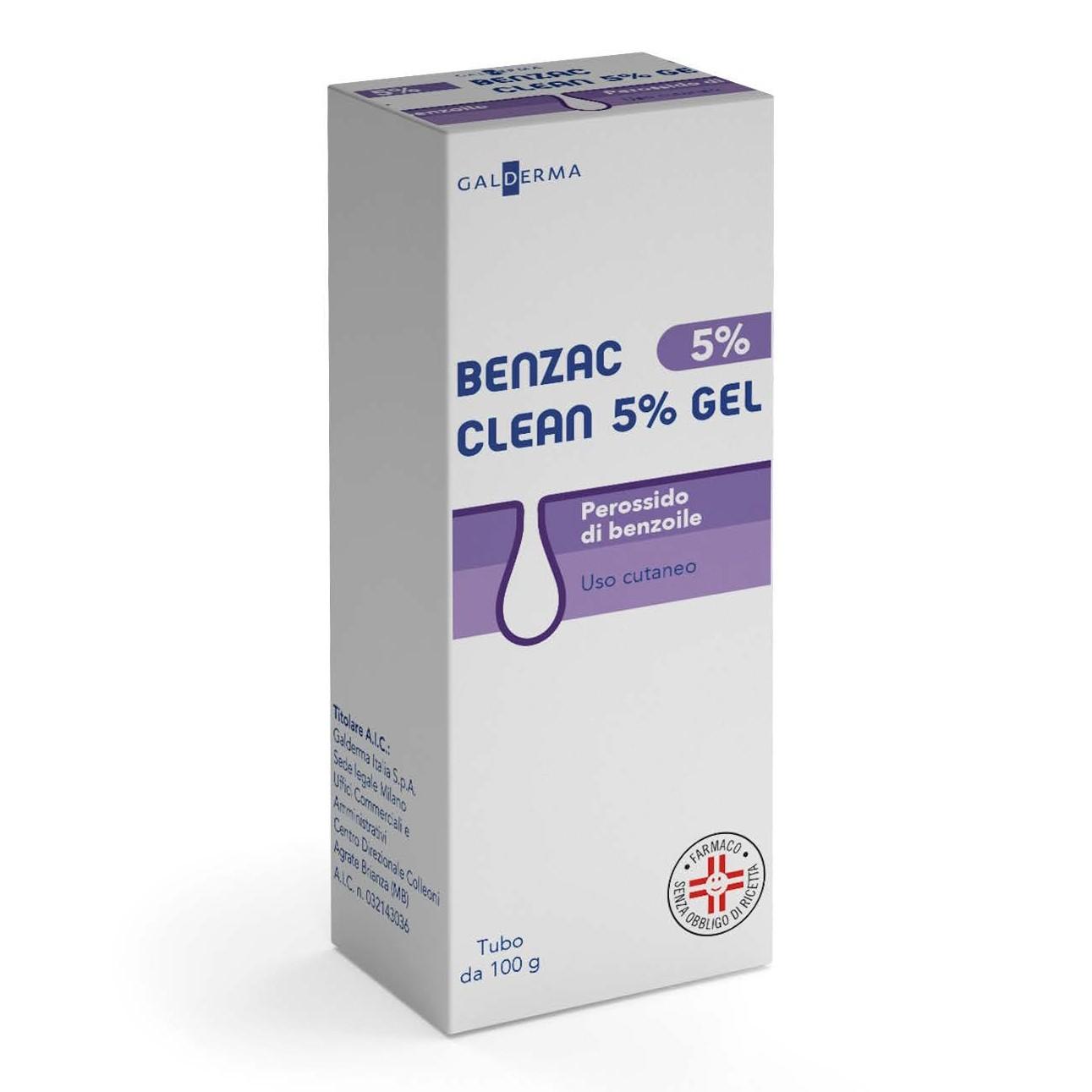 Benzac* Gel Clean 5% Tubo 100 g