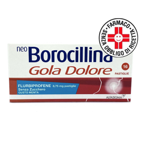Neoborocillina Gola Dolore*16 pastiglie gusto menta senza zucchero