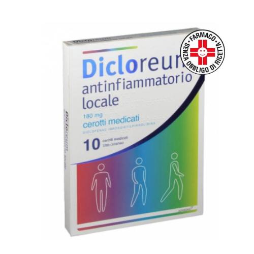Alfa Wasserman Dicloreum Antinfiammatorio locale 180g 10cerotti medicati