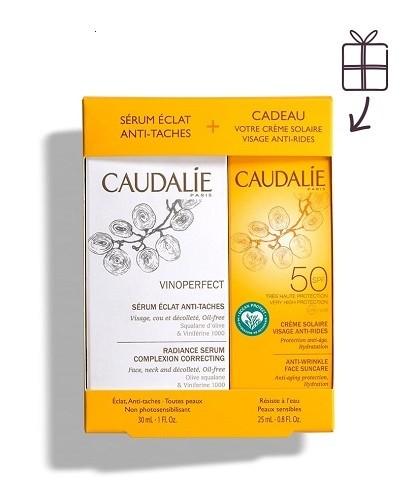 Caudalie Vinoperfect Siero Illuminante Antimacchie 30 ml + Crema Solare spf50 25ml