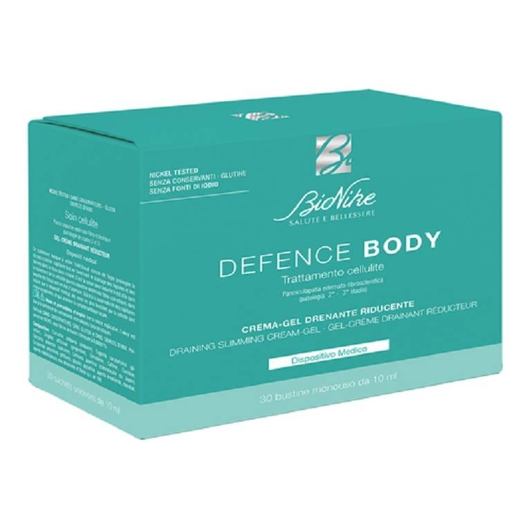 Bionike Defence Body Crema Gel Drenante Riducente 30 bustine