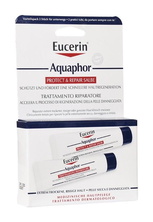 Eucerin Aquaphor Trattamento Riparatore per pelle secca e danneggiata 2x10ml