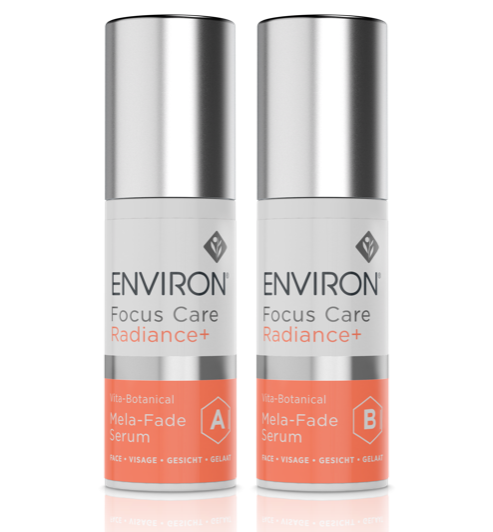 Environ Focus Care Radiance+ Vita-Botanical Mela-Fade Serum System A+B 2×30ml
