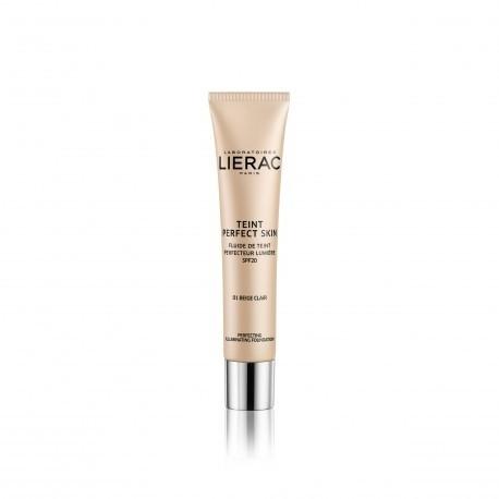 Lierac Teint Perfect Skin fondotinta perfezionatore illuminante spf20 1 Light Beige 30ml
