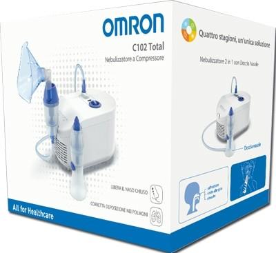 Corman Nebulizzatore A Pistone Omron C102 Total A Aerosol Adulti e Bambini