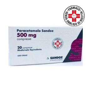 Sandoz Paracetamolo 500 mg 20 compresse