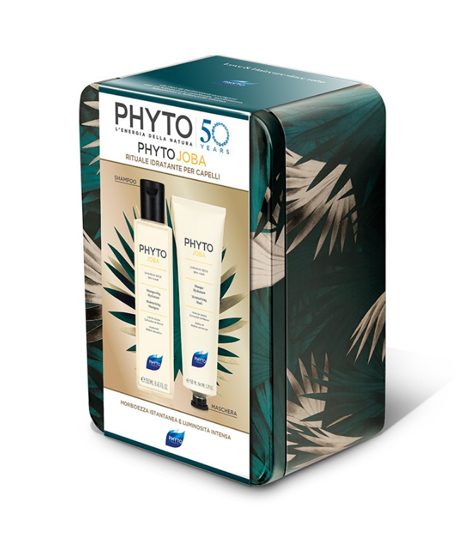 Phytojoba Cofanetto Trattamento Idratante Capelli Shampoo 250ml Maschera 150ml