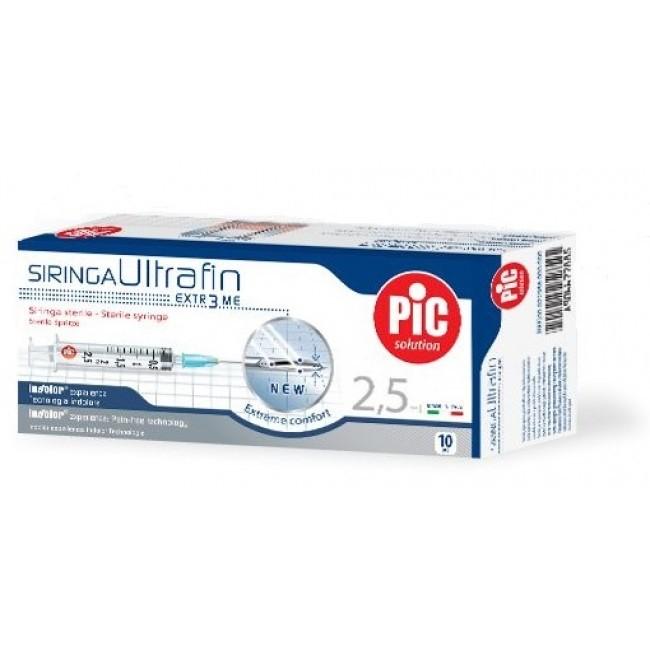 Pic Solution Siringa Ultrafin 2,5 ml 10 pezzi