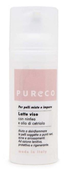 Pureco Latte Viso Ninfea Olio di Cetriolo 50 ml