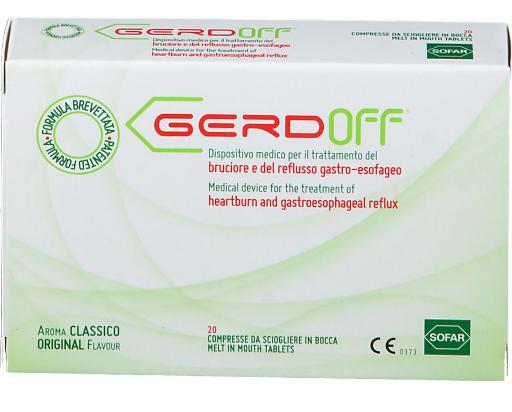 Sofar Gerdoff Dispositivo Medico per il Trattamento del Reflusso Gastro-Esofageo 20 compresse