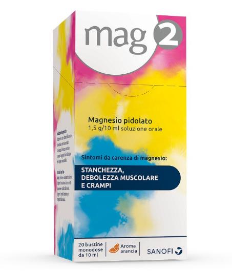 Sanofi Mag2 Magnesio Pidolato 20 bustine 1,5g/10ml