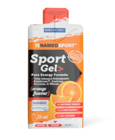 Named Sport Gel Pure Energy Formula orange flavour 25ml