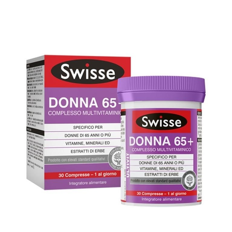 Swisse donna 65+ multivitaminico 30 compresse