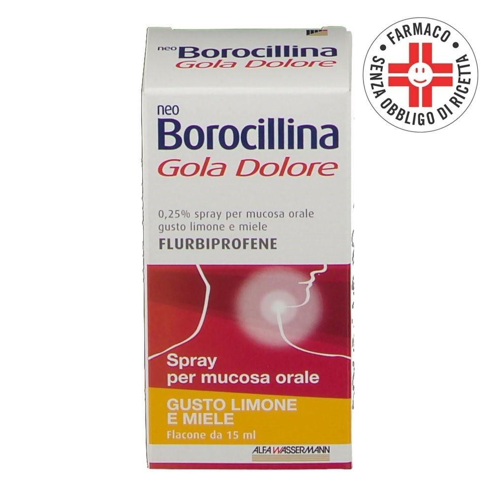 Neoborocillina Gola Dolore* Spray orale Limone e Miele