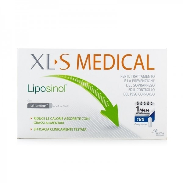 XLS Medical Liposinol 180 compresse 1 Mese di Trattamento