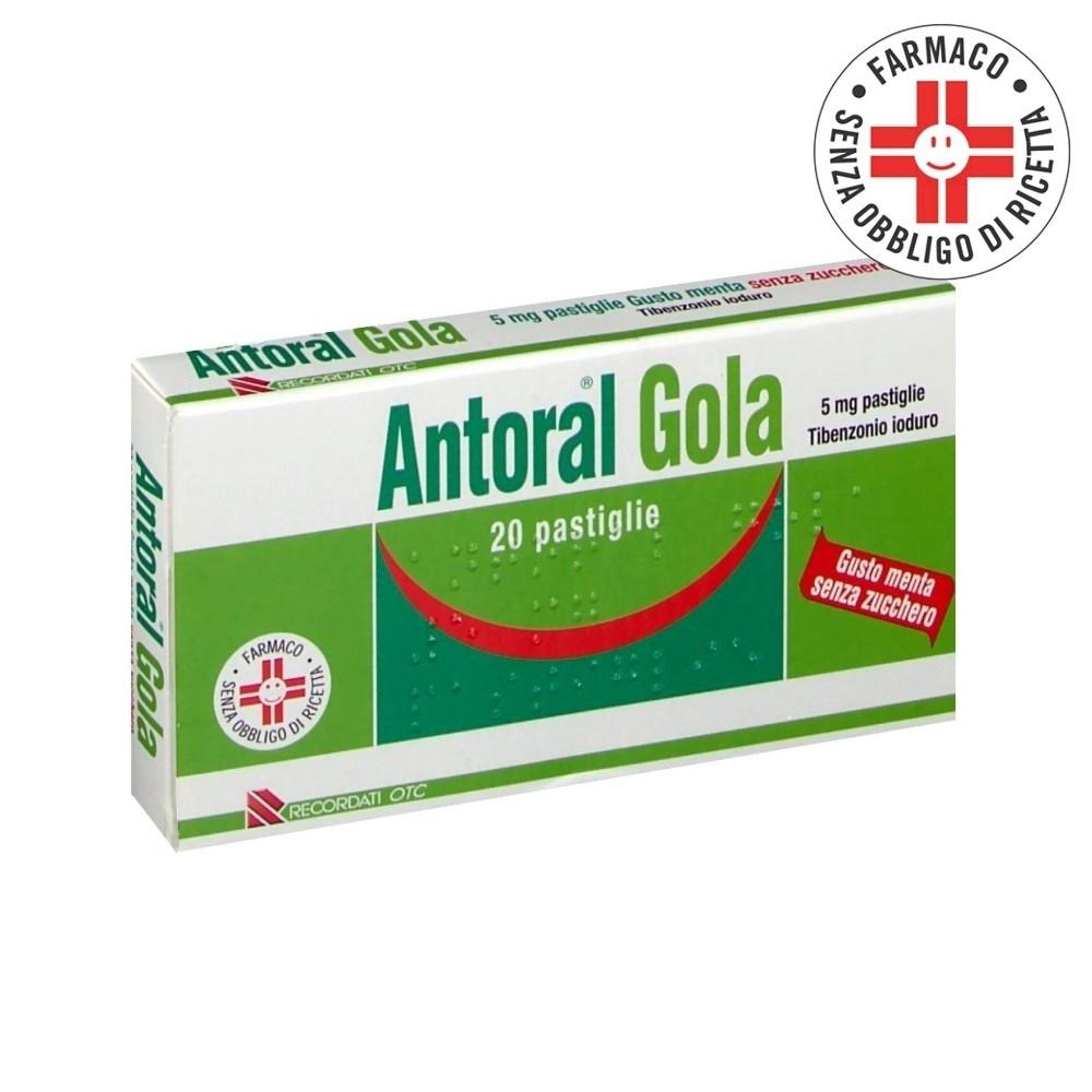 Antoral Gola* 20 pastiglie 5mg gusto menta senza zucchero