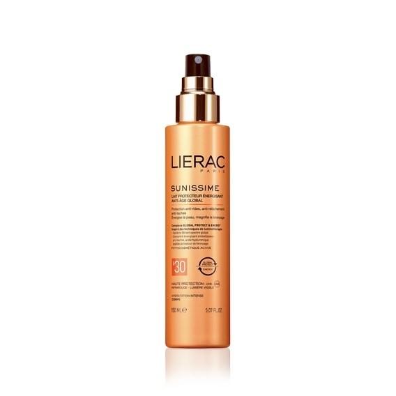 Lierac Sunissime Latte Solare Corpo Protettivo Energizzante Anti-Età Globale Spray Spf 30 150ml