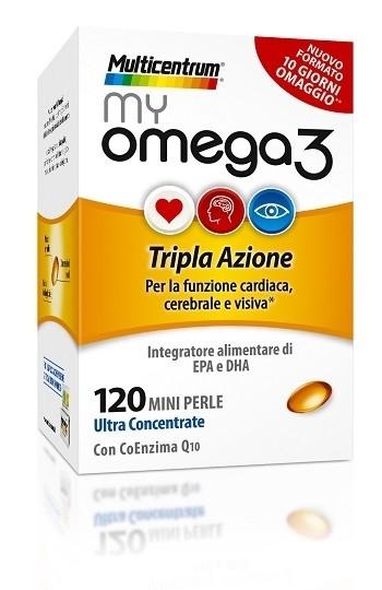 Multicentrum my omega 3 integratore alimentare a tripla azione