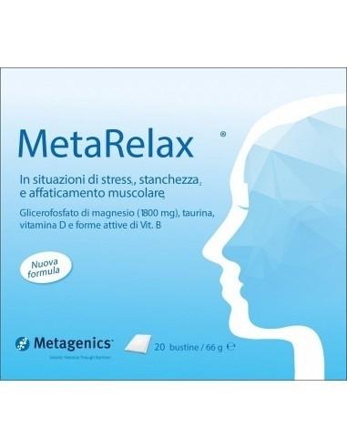 Metarelax Integratore alimentare stress, stanchezza 20 bustine