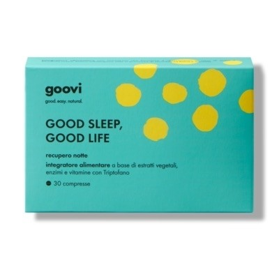 The Good Vibes Company Goovi Good Sleep, Good Life Recupero Notte 30 Compresse