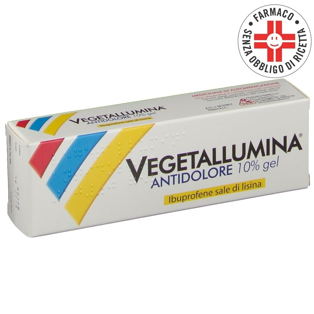 Vegetallumina Antidolore* Gel 10% 50gr