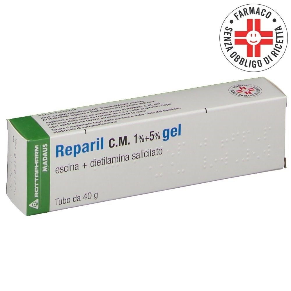 Reparil C.M.* gel  40gr 1% + 5%