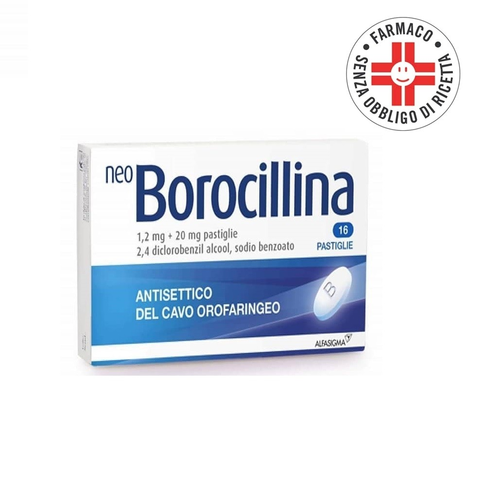 Neoborocillina* 16 pastiglie 1,2+20mg