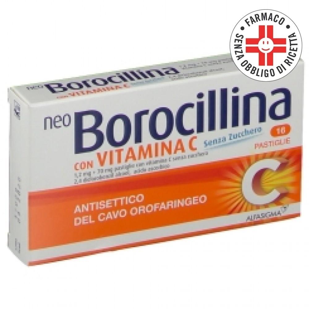 Neoborocillina C *16 Pastiglie Senza Zucchero con Vit. C