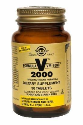 Solgar Supplement VM 2000 Vitamine e Minerali 30 tavolette