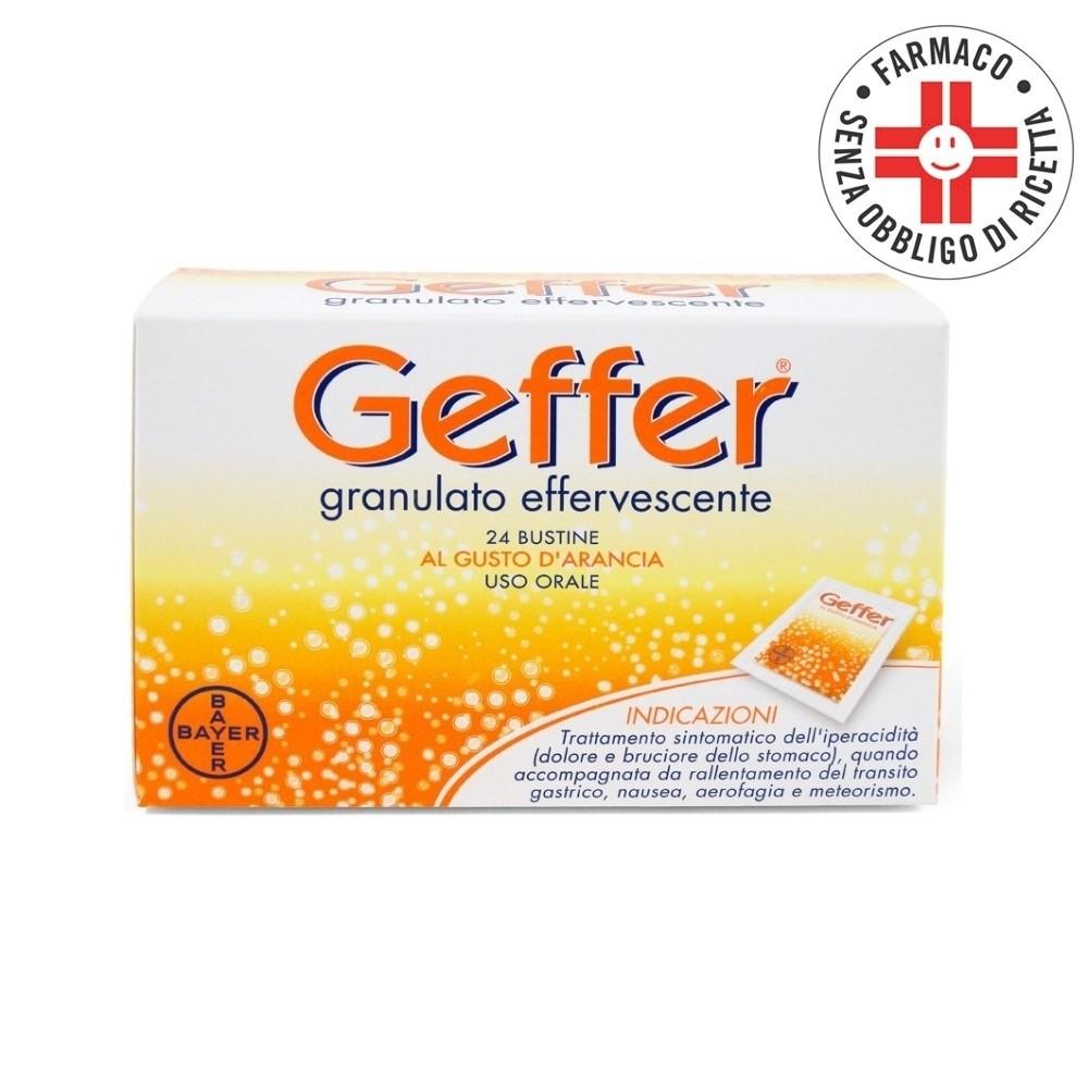 Geffer Granulato Effervescente 24 buste al Gusto di Arancia 5gr