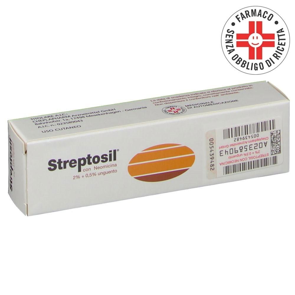 Streptosil Neomicina* unguento dermatologico 20gr 2% + 0,5%
