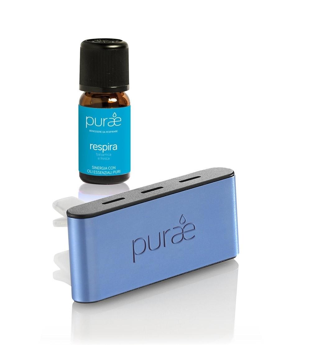 Purae Diffusore Auto + Sinergia Respira 5ml