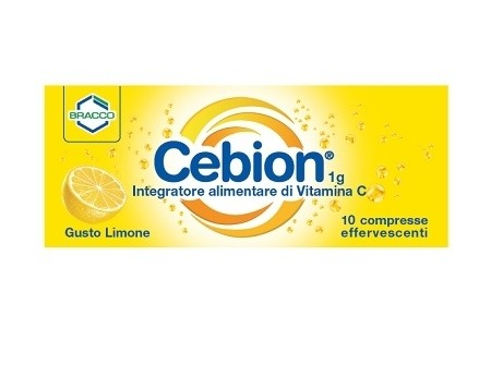 Cebion Integratore alimentare di Vitamina C Effervescente Gusto Limone 10 compresse