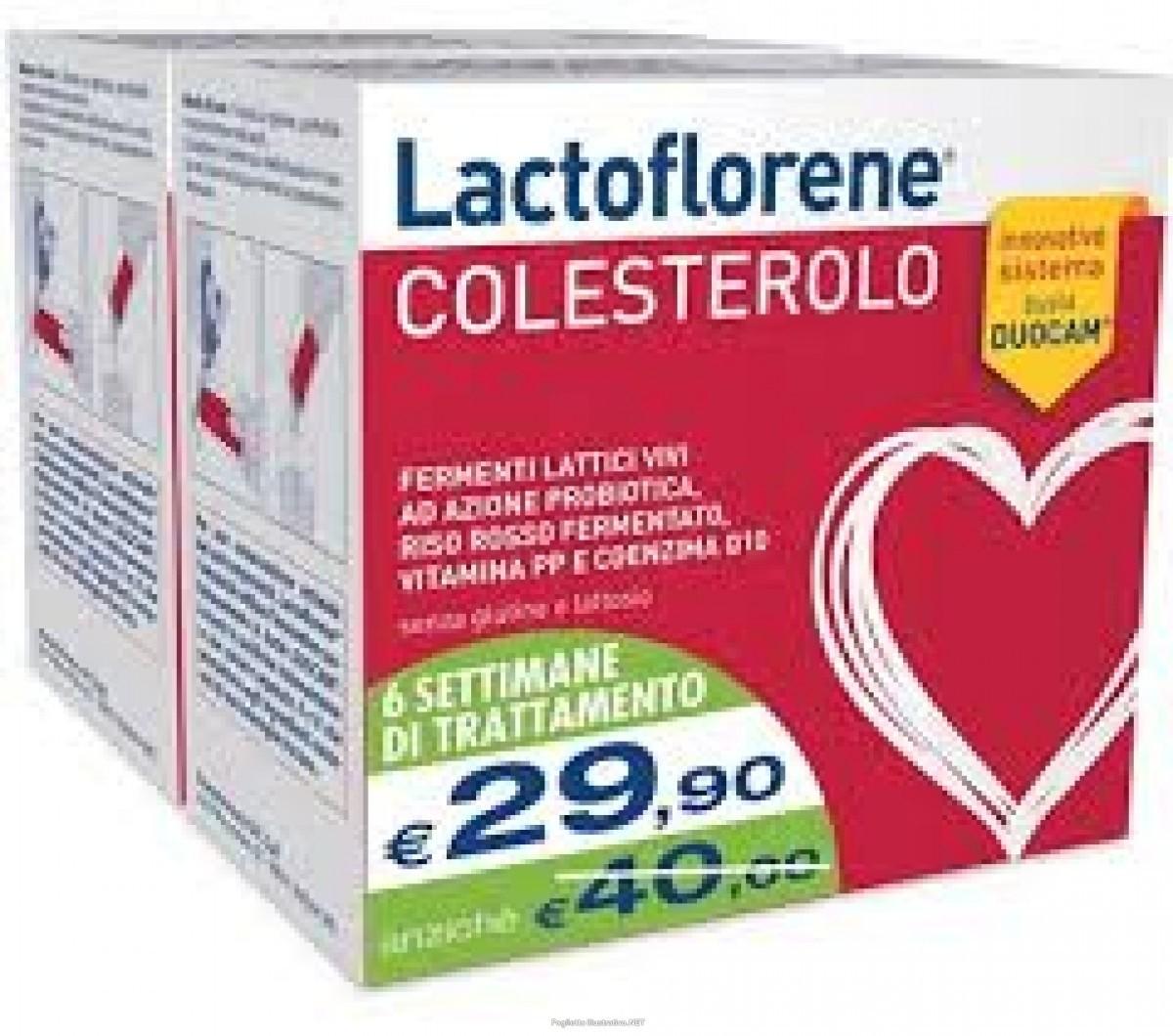 Montefarmaco Lactoflorene Colesterolo bipack 20+20 bustine