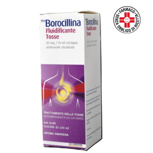 Neoborocillina fluidificante tosse*sciroppo 1 flacone 200 ml 30 mg/ml