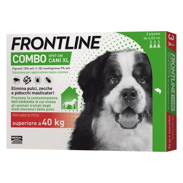 Frontline Combo Spot On Cani XL 40Kg+ 3 Pipette